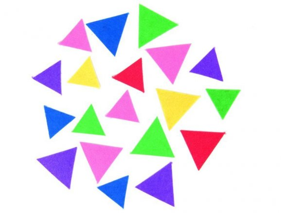 Felt triangle,  self-adhesive, coloured