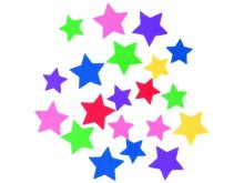 Felt star, self-adhesive, coloured