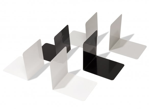 Bookends, steel, th =  0.8 mm, powder-coated