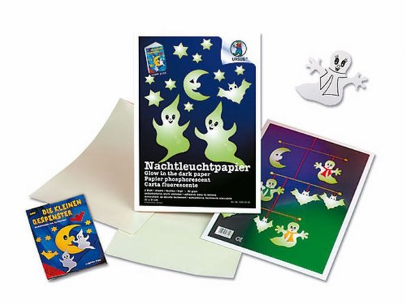 Handicrafts folder, glow-in-the-dark paper
