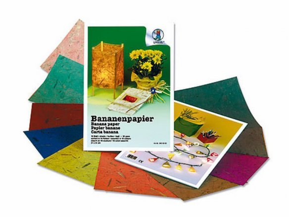Handicrafts folder, banana paper