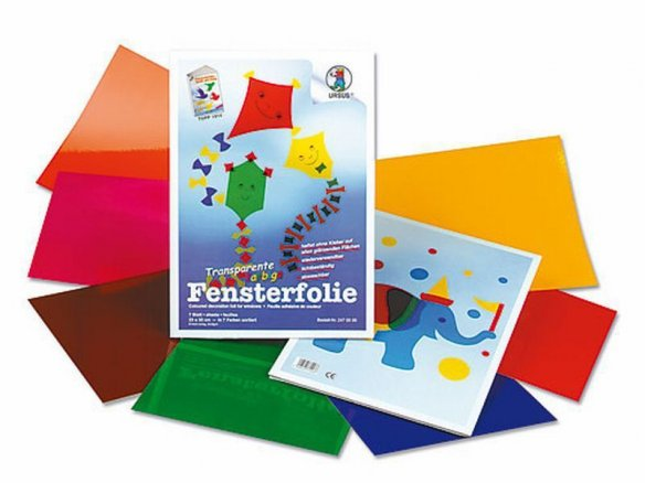 Handicrafts folder, coloured window film, transp.