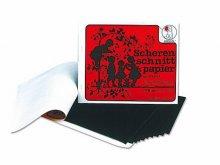 Cuaderno manualid., papel para siluetas, engomado