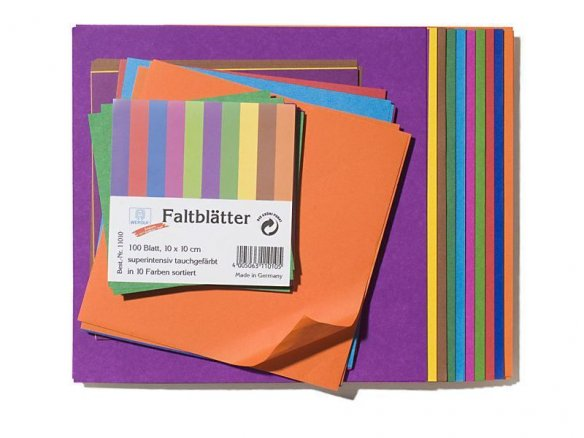 Origami folding paper, solid coloured