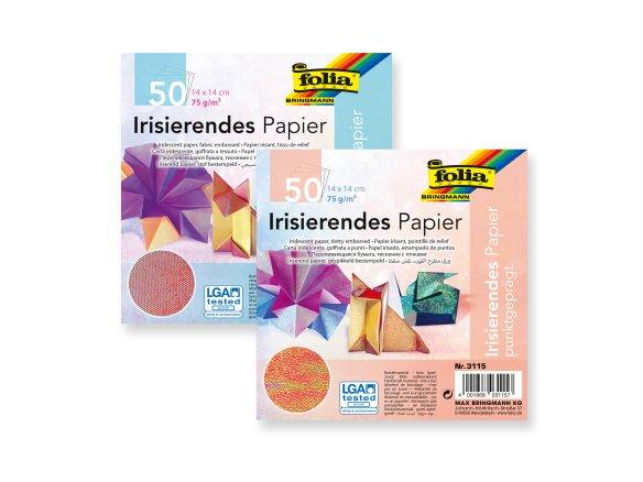 Origami Faltblätter, einseitig bedruckt