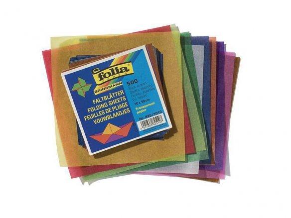 Fogli pieghevoli di carta pergamina per origami