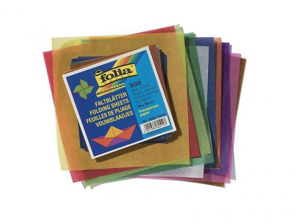 Origami Faltblätter aus Pergamynpapier