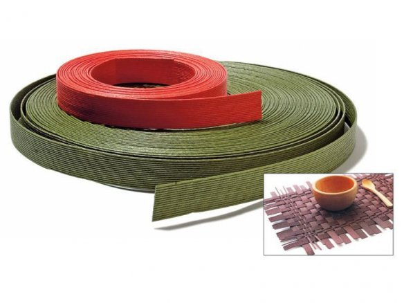 Kamihimo paper tape, coloured