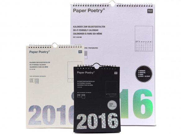 Paper Poetry calendar, your design