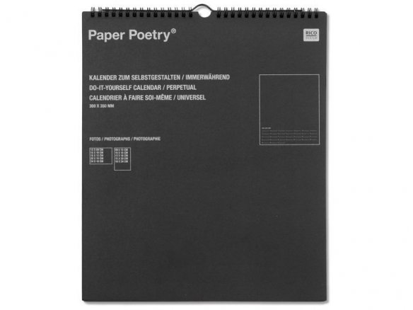 Paper Poetry permanent calendar your design