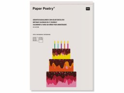Paper Poetry blank birthday calendar
