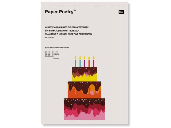 buy paper poetry blank birthday calendar online at modulor