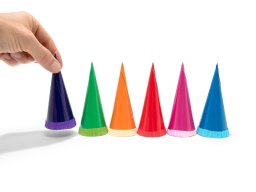 Mini First Day School cones , blank, chromo board with closure