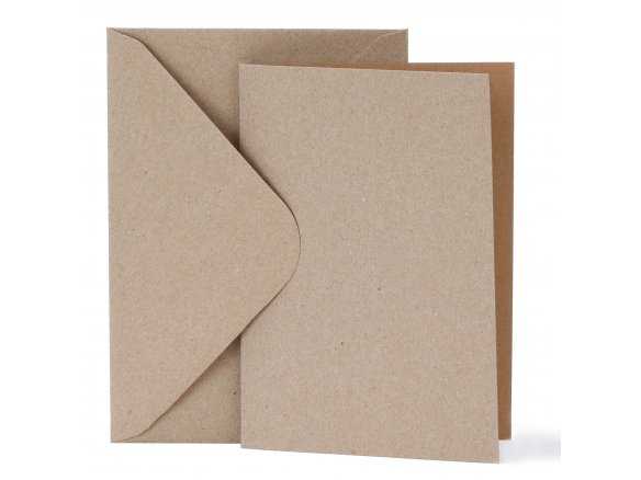 Blank card set, recycled paper