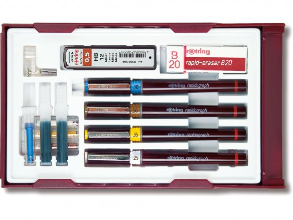 Rotring Rapidograph ink drawing pen, set