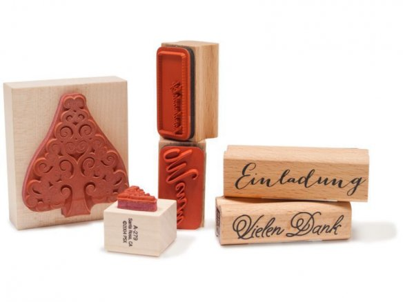 Motif stamps with wooden handle