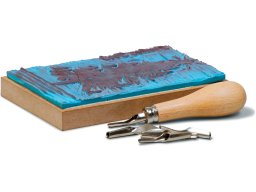 Factis artist carving block (stamp)  (blue)