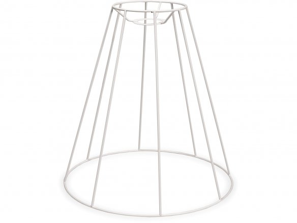 Lampshade frame, round, conical (for hanging lamp)