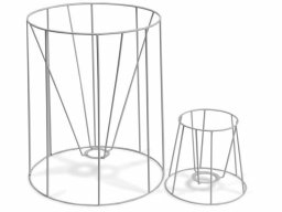 Lampshade frame, round, conical (f. standing lamp)