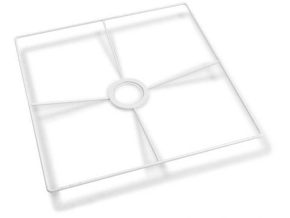 Fassungsring for E14/E27,  white, rectangular