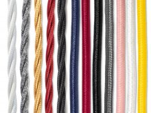Textile cable, round