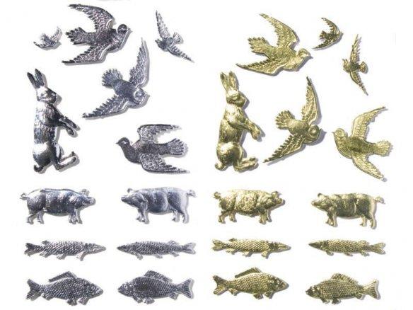Animales de cartulina, troquelados, gofrados