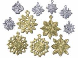 Condecoraciones de cartulina, troquel., gofradas