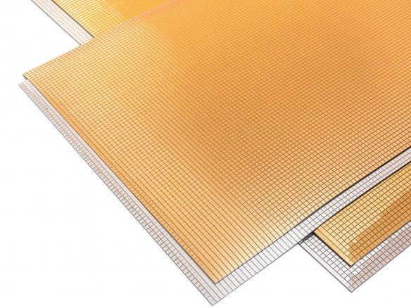 Poliestireno espejado adhesivo, cuadrados de 3 mm
