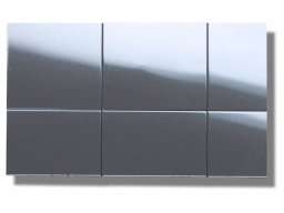 Polystyrene mirror, self-adhesive, 30 mm squares