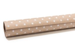 Gift wrap kraft paper roll, dots