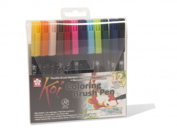 Sakura Koi Coloring brush markers set
