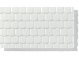 Textured sheet, through-stamped, large