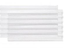 Corrugated sheet, through-stamped, transparent