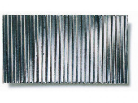 Micro-corrugated sheet, through-stamped, coarse