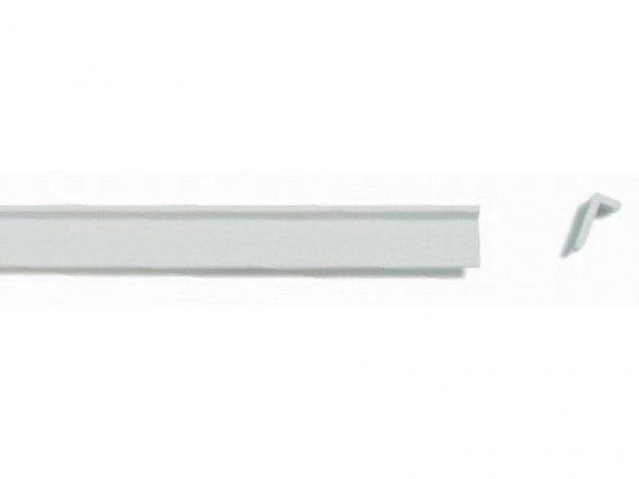 Profilo ASA sezione a L, non equilatero, bianco
