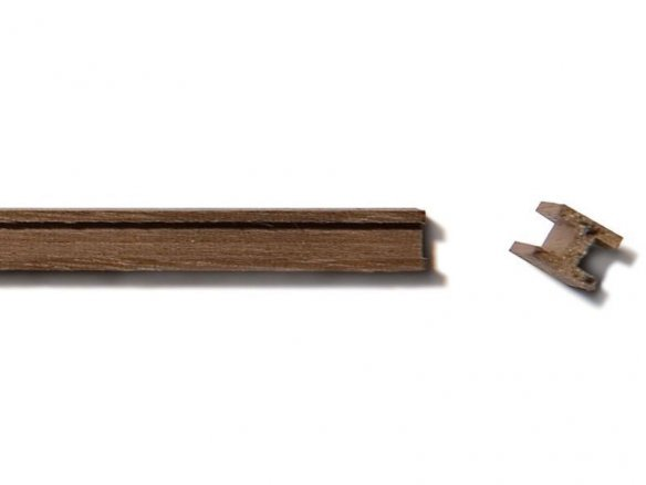 Walnut H-beam strip