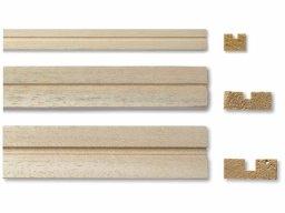 Listelli scanalati in legno abachi