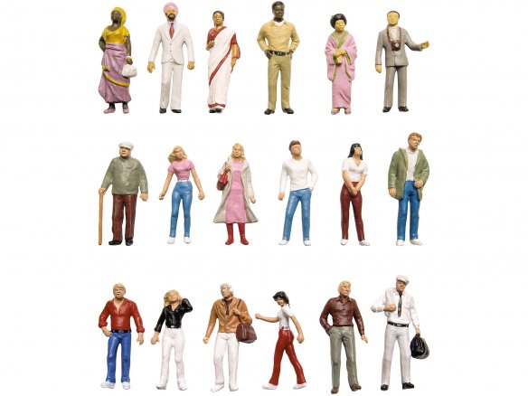 Figuras detalladas Preiser, coloreadas, 1:50
