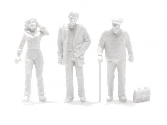 Preiser Detail-Figuren, unbemalt, weiß, 1:100