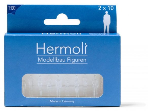 Hermoli detailed model figures, transparent, 1:100