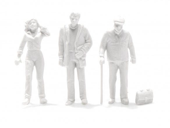 Preiser detailed model figures, unpainted, white, 1:50