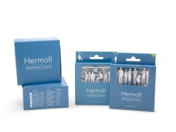 Hermoli detail model figures, unpainted, white, 1:50