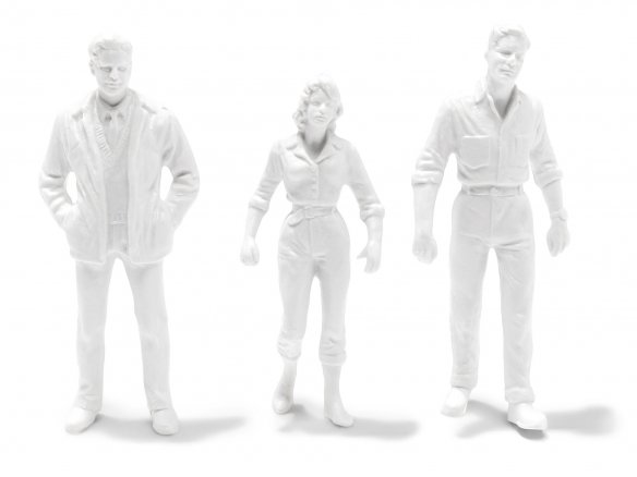 Preiser detailed-figures, unpainted, white, 1:24