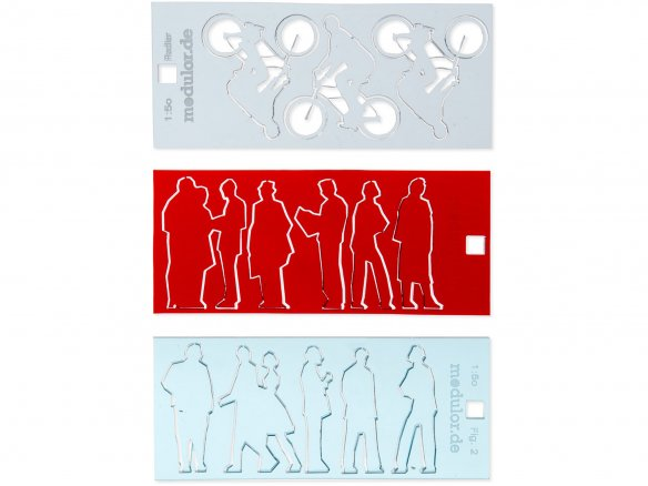 Acrylic silhouette figures, laser cut, 1:50