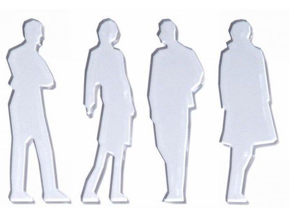 Acrylic silhouette figures, laser cut, 1:25