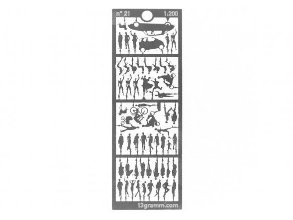Edelstahl Silhouetten-Figuren, 1:200