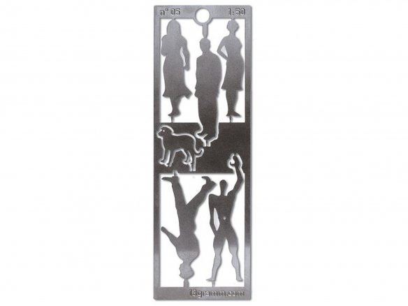 Stainless steel silhouette figures, 1:50