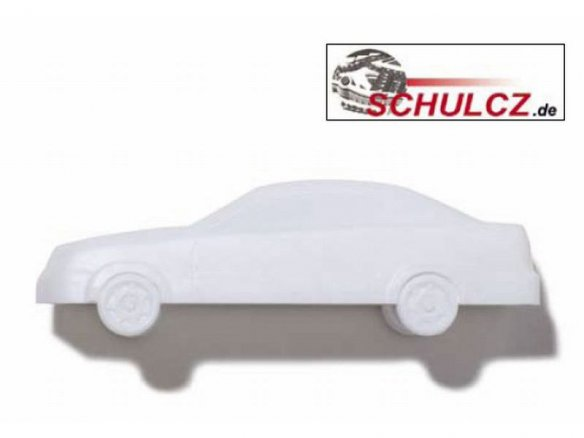 Vehicles, polystyrene, white, 1:50