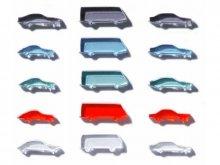 Acrylic vehicles, laser cut, 1:500