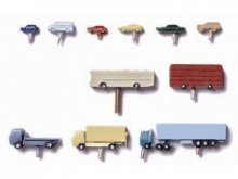 Vehicles, metal, colour painted, 1:500